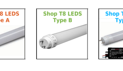 Replace your Fluorescent T8s with LED Bulbs