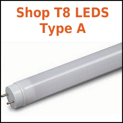 T8 LED Tubes for existing fluorescent ballast from GE