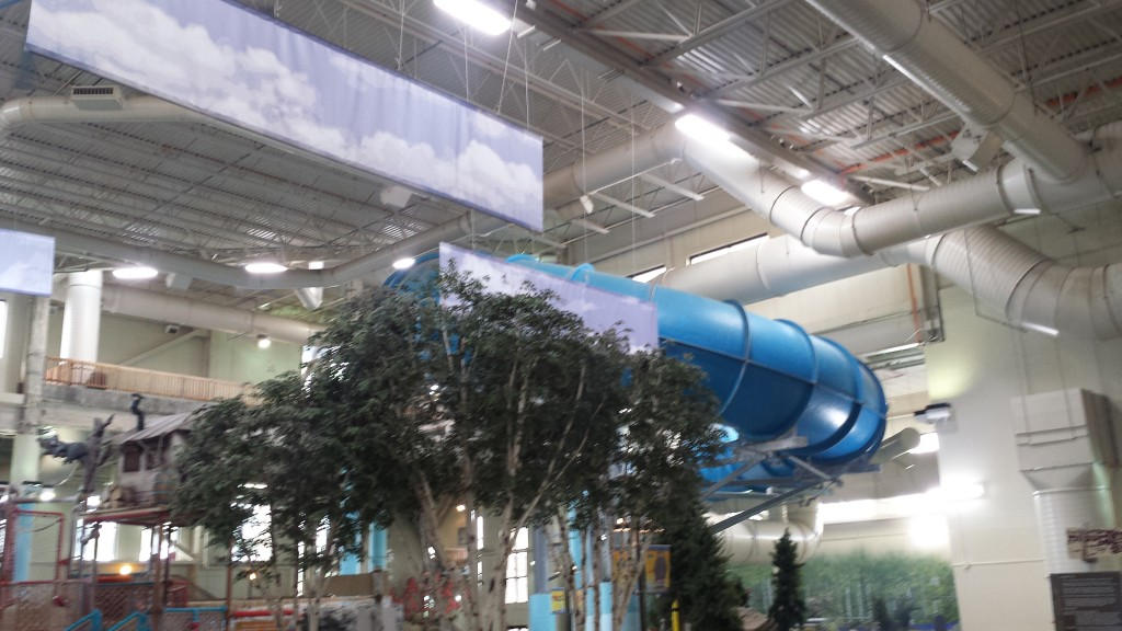 Radisson Waterpark goes fluorescent to LED