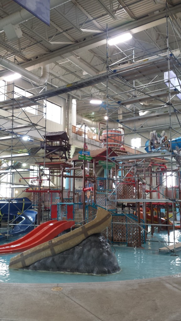 high maintenance costs for replacing lighting in a waterpark